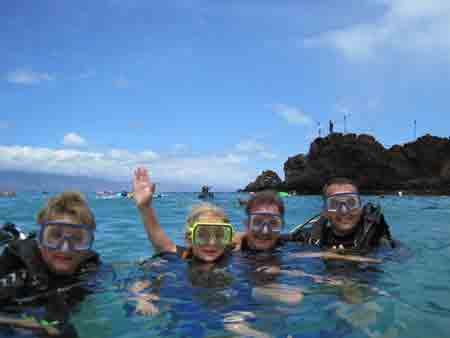 Family Scuba Diving Maui