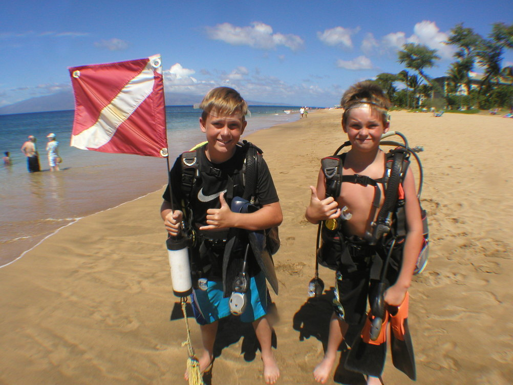 kids scuba diving lahaina maui